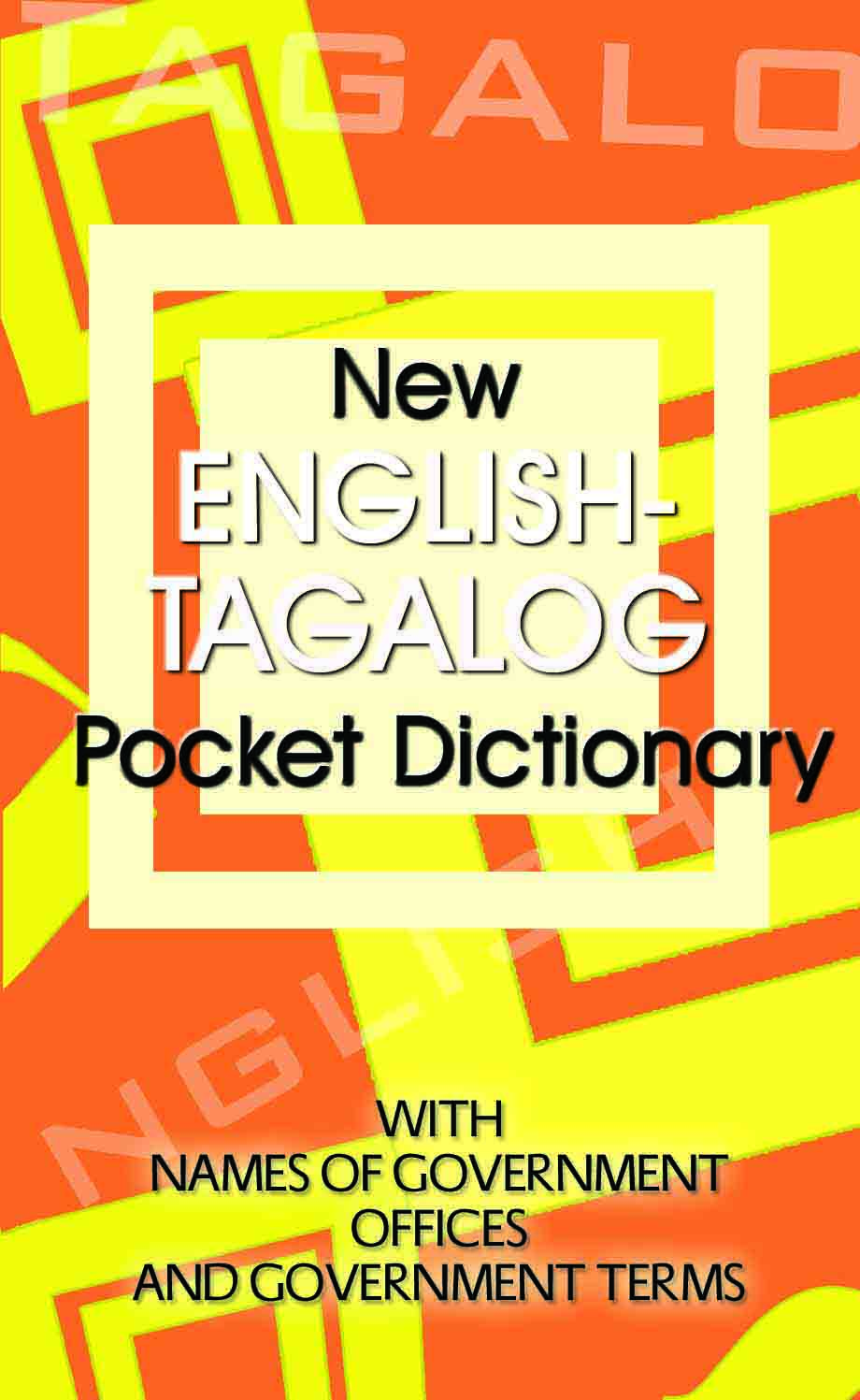 filipino english Find great deals on ebay for english tagalog dictionary in books about nonfiction shop with confidence.